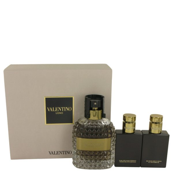 VALENTINO - Uomo EDT 100ml Giftset (EDT 100ml + Shower Gel 50ml + After Shave 50ml)