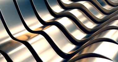 Abstract Metal Wave Background 3d Illustration